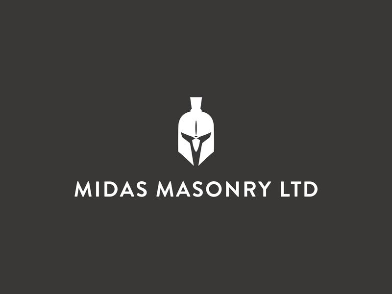 Midas Masonry Logo Design brand minimal identity logo design vector logo branding