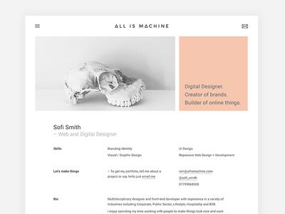 Personal / Freelance Portfolio Design