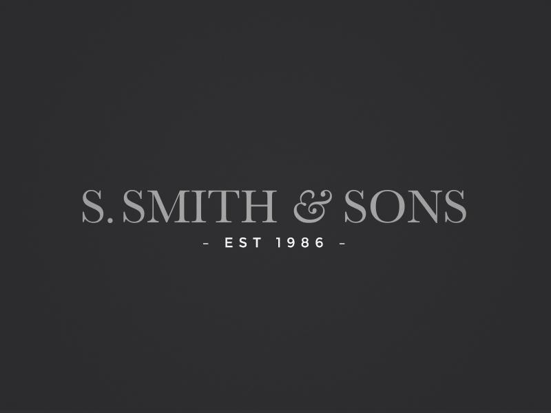 Smith & Sons Logo Refinement dark typography logo design logo serifed monochrome classic