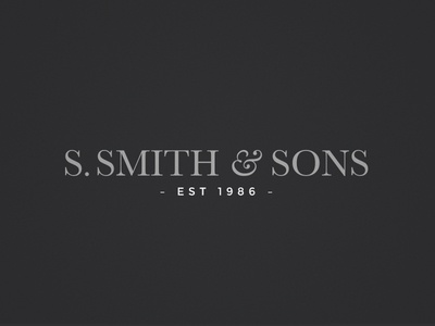 Smith & Sons Logo Refinement
