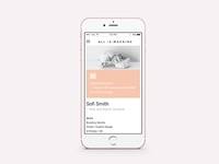 Portfolio on mobile - All is Machine
