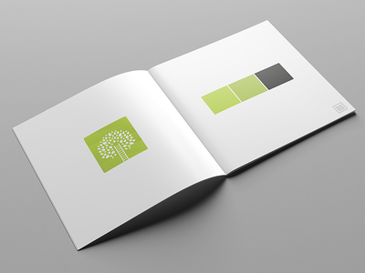 Brand Guidelines for Treecare Client minimal gradient flat green brand logo marque iconography identity branding logo tree