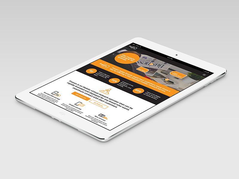 Responsive Website Design + Build for Freeon - All is Machine marketing landing page ui identity branding web design website flat grid orange responsive mobile