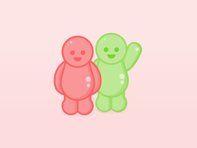 Happy Customers illustration - Jelly Babies