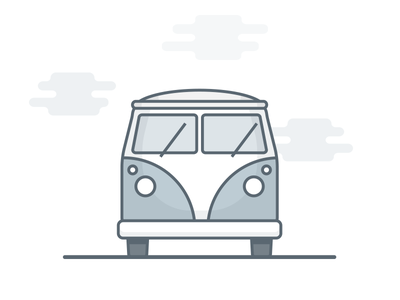Camper Illustration - WIP icon travel vehicle iconography graphic design flat camper van vector illustration