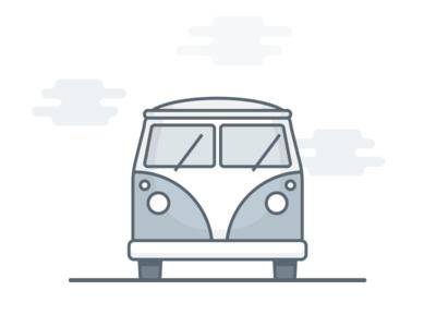 Camper Illustration - WIP icon travel vehicle iconography graphic design flat camper van vector illustration