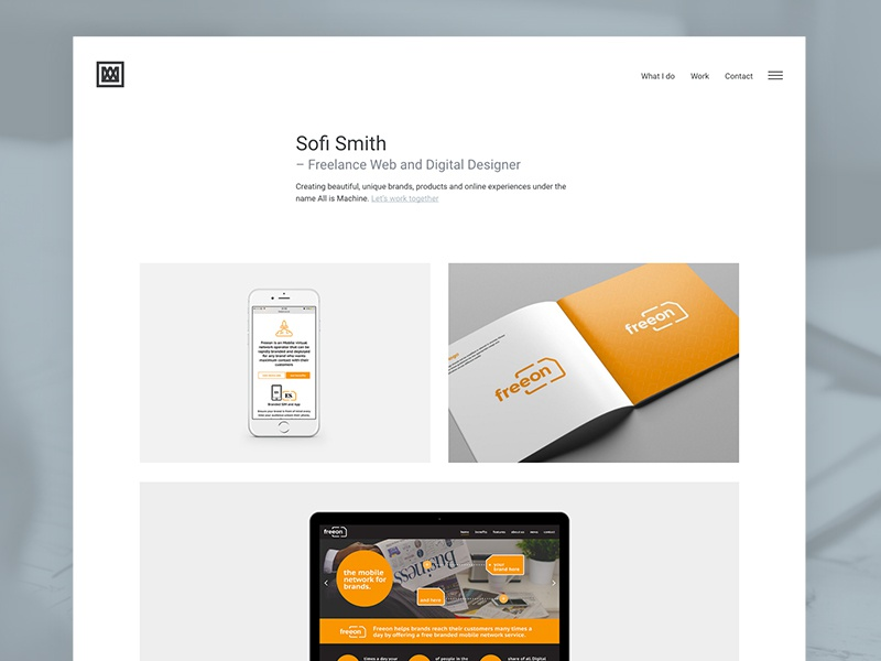 Sofi smith website design