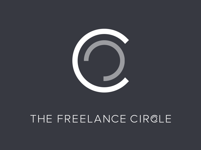 The freelance circle   branding   blueblack