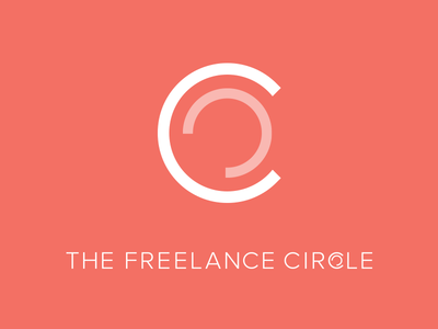 Logo Design for The Freelance Circle mark brand minimal flat red vector identity graphic design graphic branding logo design logo