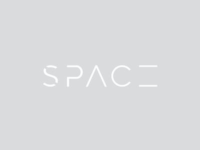 Thirty Logos - Space Logo minimal vector logo design capitalised identity branding logo typography monochrome negative space space thirtylogos