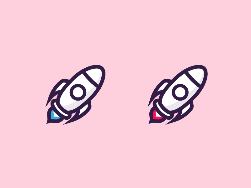 Rocket illustrations branding logo minimal iconography icon vector illustration space pastel rocket