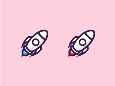 Rocket illustrations branding logo minimal iconography icon vector illustration space pastel rocket