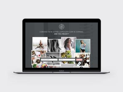 Danielle Peazer Method Landing Page Design grid clean minimal dark branding model health fitness website design website landing page design