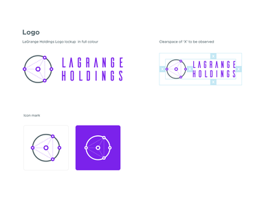 LaGrange Holdings - Logo vector outline brand guidelines visual identity bitcoin space bright colours modern crypto branding logo design logo