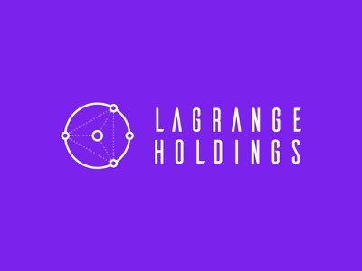 LaGrange Holdings - Logo vector outline brand guidelines visual identity bitcoin space bright colours modern crypto branding logo design logo