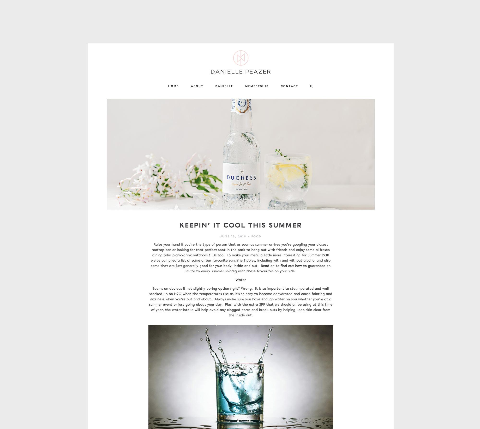 Danielle peazer web design 2