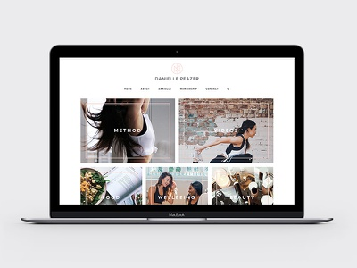 Danielle Peazer Website Design and Development ui logo branding food fresh minimal clean grid website web design fitness fashion