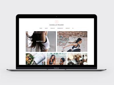 Danielle Peazer Website Design and Development ui logo branding food fresh minimal clean grid website web design fitness fashion