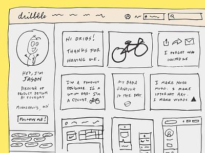 Big Time Sensuality web design wireframes ux sketchbook debut