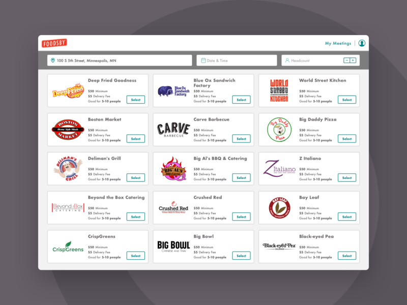 Foodsby Case Study startup case study product design ux ui food delivery delivery app food app