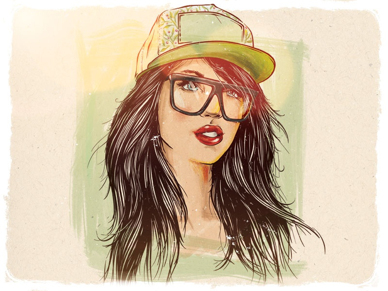 Swag Girl By Valentin Mihai On Dribbble