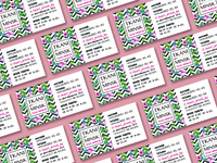 Business cards - textile store