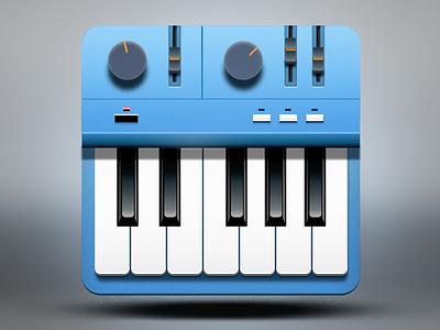 Vintage Synth icon design vintage synth icon