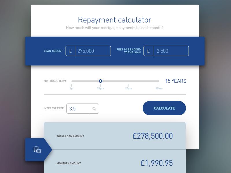 Financial calculator ui calculator sketch