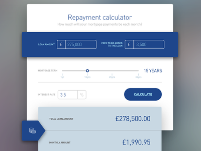 Financial calculator ui calculator sketch