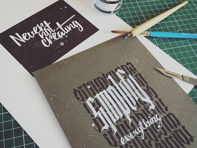 Calligraphy hand painted typography calligraphy