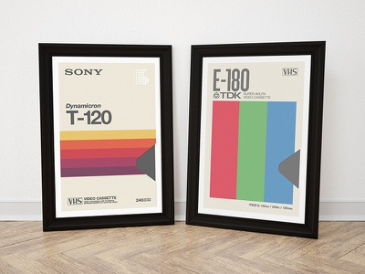 VHS posters typography vhs poster
