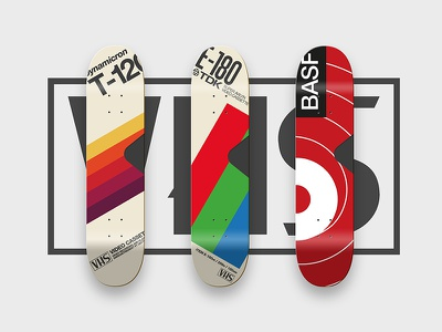 Retro tape decks deck vhs retro skateboard