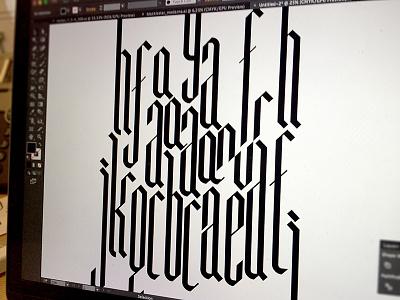 Blackletter experiment typography illustrator blackletter font typeface