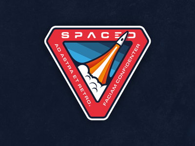 SPACED mission patch travel company mission patch latin patch branding logo spacedchallenge