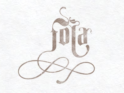 Fola logo texture brand character calligraphy