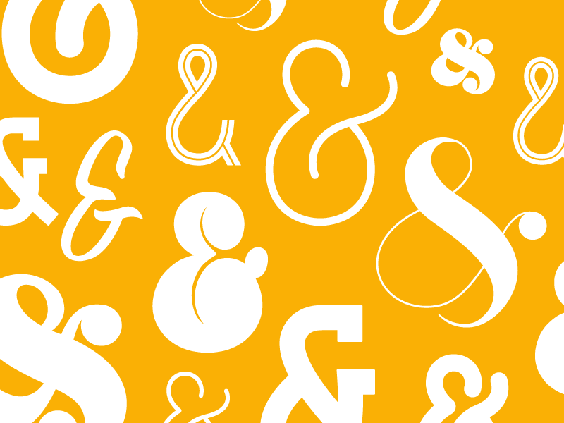 An Abundance of Ampersands ampersands design typography
