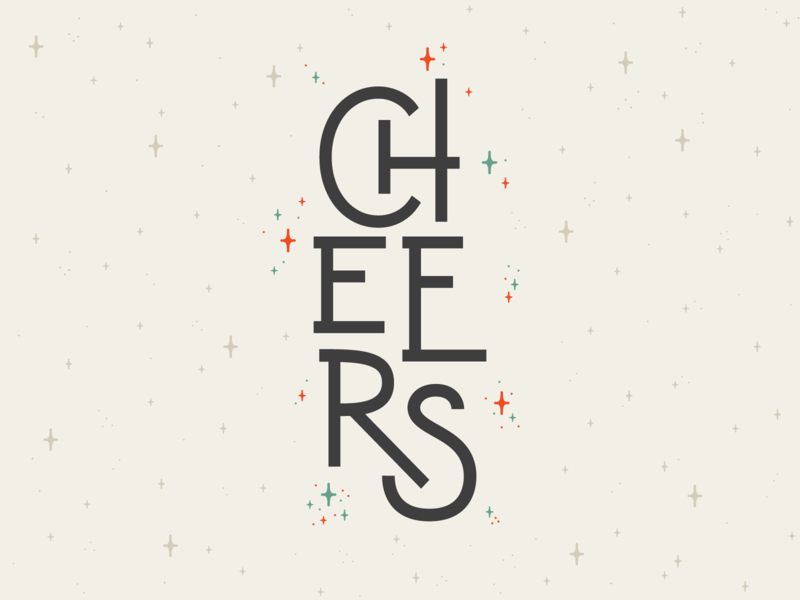 CHEERS! design art typography lettering holiday card holiday cheers