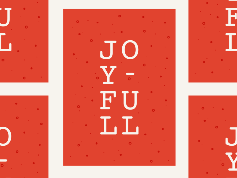 Joyful vector red fun festive new lettering holiday card holiday design art design typography