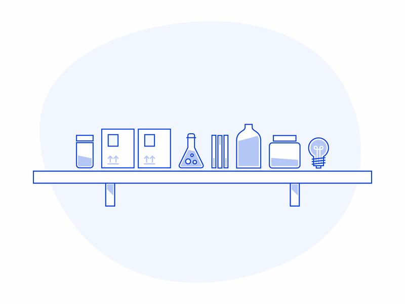 a fully stockd shelf charlotte web icon ux ui branding vector design art new illustration design