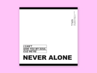 Never alone   the 1975 opt.01  2x