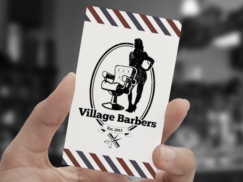 Village Barbers Business Card Mockup By Ade Thompson Dribbble