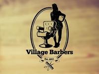 Village Barbers Logo