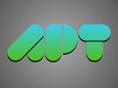 Apt logo with background