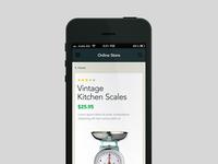 Vintage Kitchen Scales
