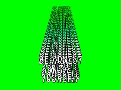 Be honest with yourself font design lettering illustration design roccano