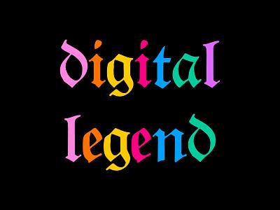 Digital legend lettering art font lettering illustration roccano