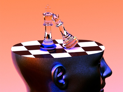 Ming game ♟ nfts nft digitalart art surreal model arnold illustration render design c4d 3d roccano