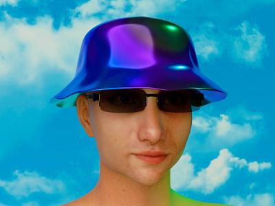 Roccano 👽 cyberpunk cyber photoshop cycles bucket hat hat sunglasses face daz3d portrait blender model character design character illustration render design 3d roccano