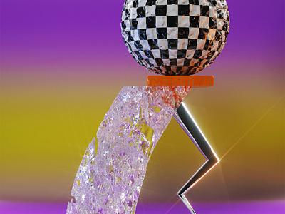 𝓕𝓻𝓲𝓨𝓐𝓨 organic abstract glass metal crystal passes photoshop octane branding illustration creatives render c4d design 3d roccano