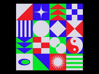 𝓚𝓮𝓮𝓹 𝓼𝓱𝓪𝓹𝓮 🔷 mosaic composition abstract flat palette colors illustrator vector magazine poster gallery art geometric branding logo illustration design roccano